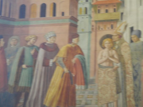 St. Francis of Assisi frescoe denouncing his wealth