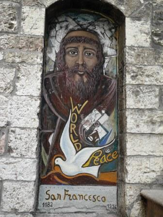 St. Francis of Assisi, street art