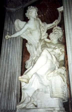 habakkuk and the angel, bernini