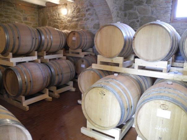 Italian wine in french barrels