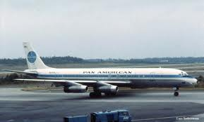 I flew a Panagra DC8 from    Lima, Peru to Miami. before we boarded, there was an eathquake in Lima, which shook the airport quite well. Then, they led a man aboard in shackles. Then, over Cuba, the cockpit filled with smoke. Quite the flight!