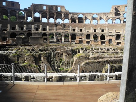 emperors seats in the roman coliseum